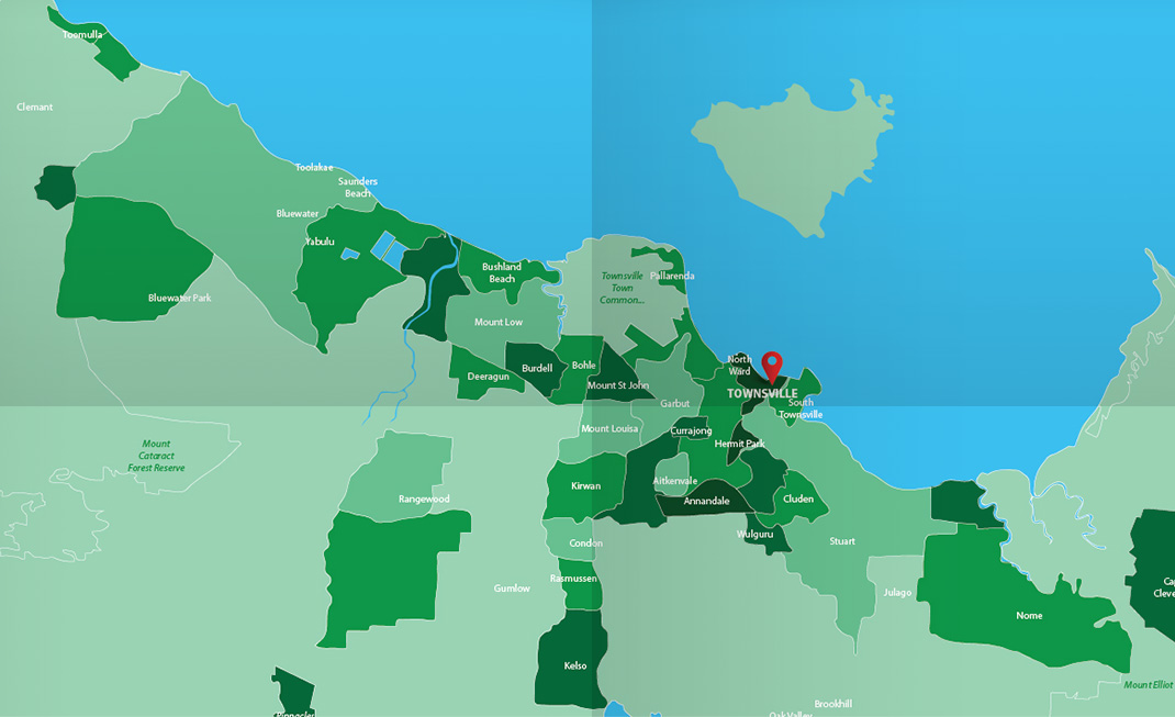 Asbestos Watch Townsville - location map