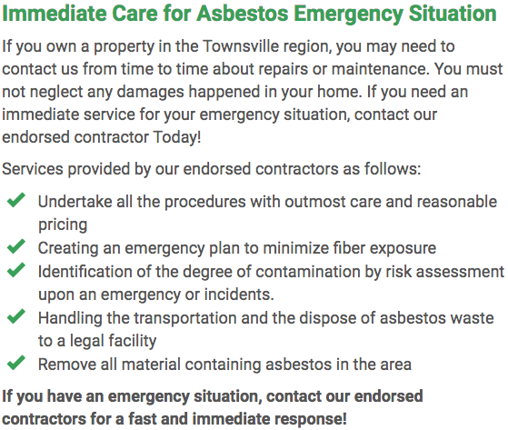 Asbestos Watch Townsville - emergency repairs Townsville