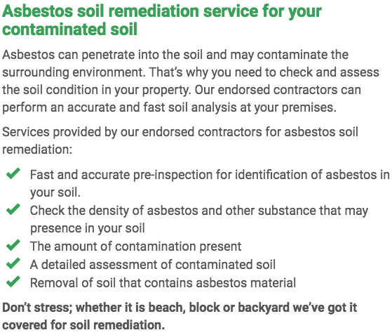 Asbestos Watch Townsville - soil remediation right